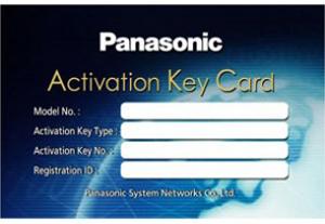 Panasonic KX-NSF201W Activation Key Card-0